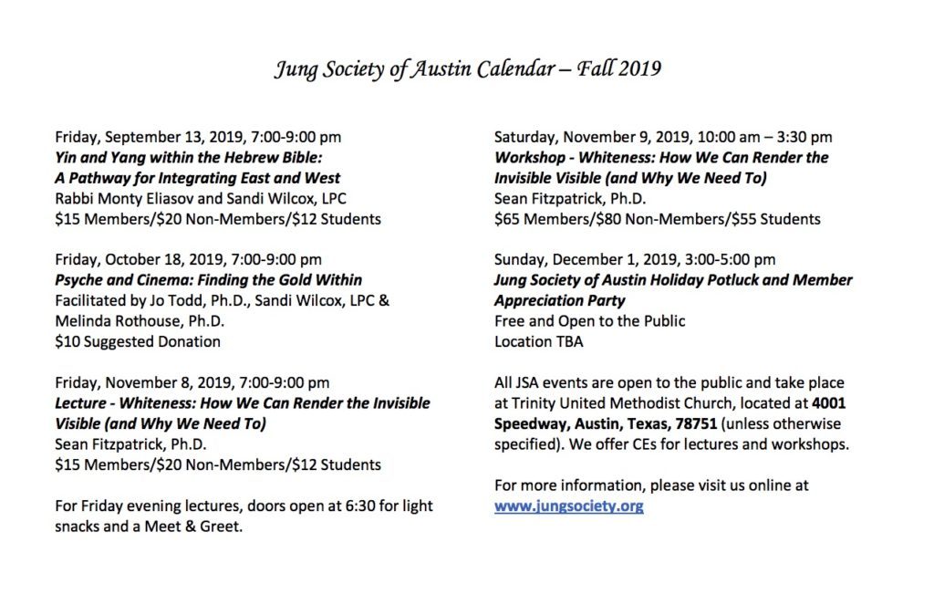 Events – Jung Society of Austin
